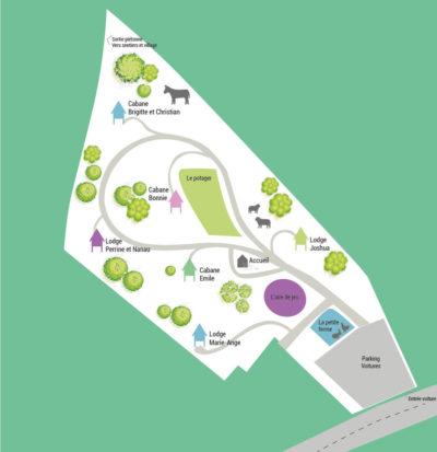 Plan général du domaine Beauregard